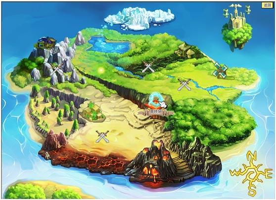 冒险地图模板